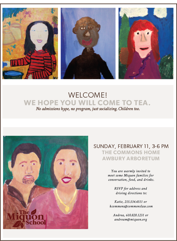 welcome tea invite 2018 front and back the miquon school