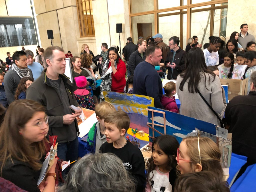 Miquon students at The Art of Math Challenge, presented by The Barnes Foundation, on May 3.