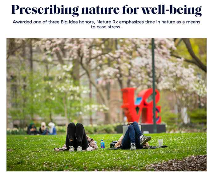 Nature RX Article/Source: Penn Today